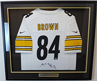 7591ae87b0d Pittsburgh Steelers Antonio Brown Autographed Framed White Nike Jersey  Beckett BAS