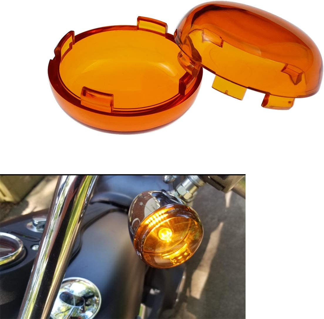 YHMTIVTU Bullet Turn Signal Year-end annual account Max 90% OFF Light Lens Spor Cover Harley Fit for