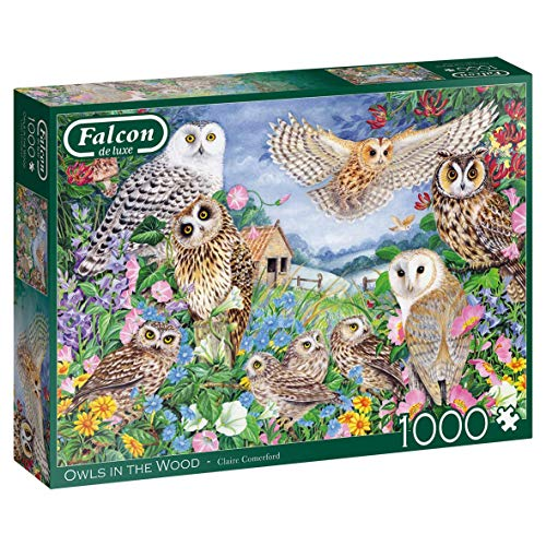 Jumbo 11286 Owls in The Wood 1000 Piece Jigsaw Falcon de Luxe Puzzle Eulen im Holz, 1.000 Teile