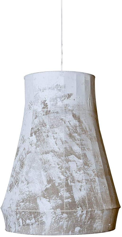 Karman atelier, lampada a sospensione,paralume in poliestere pennellato bianco SE689S