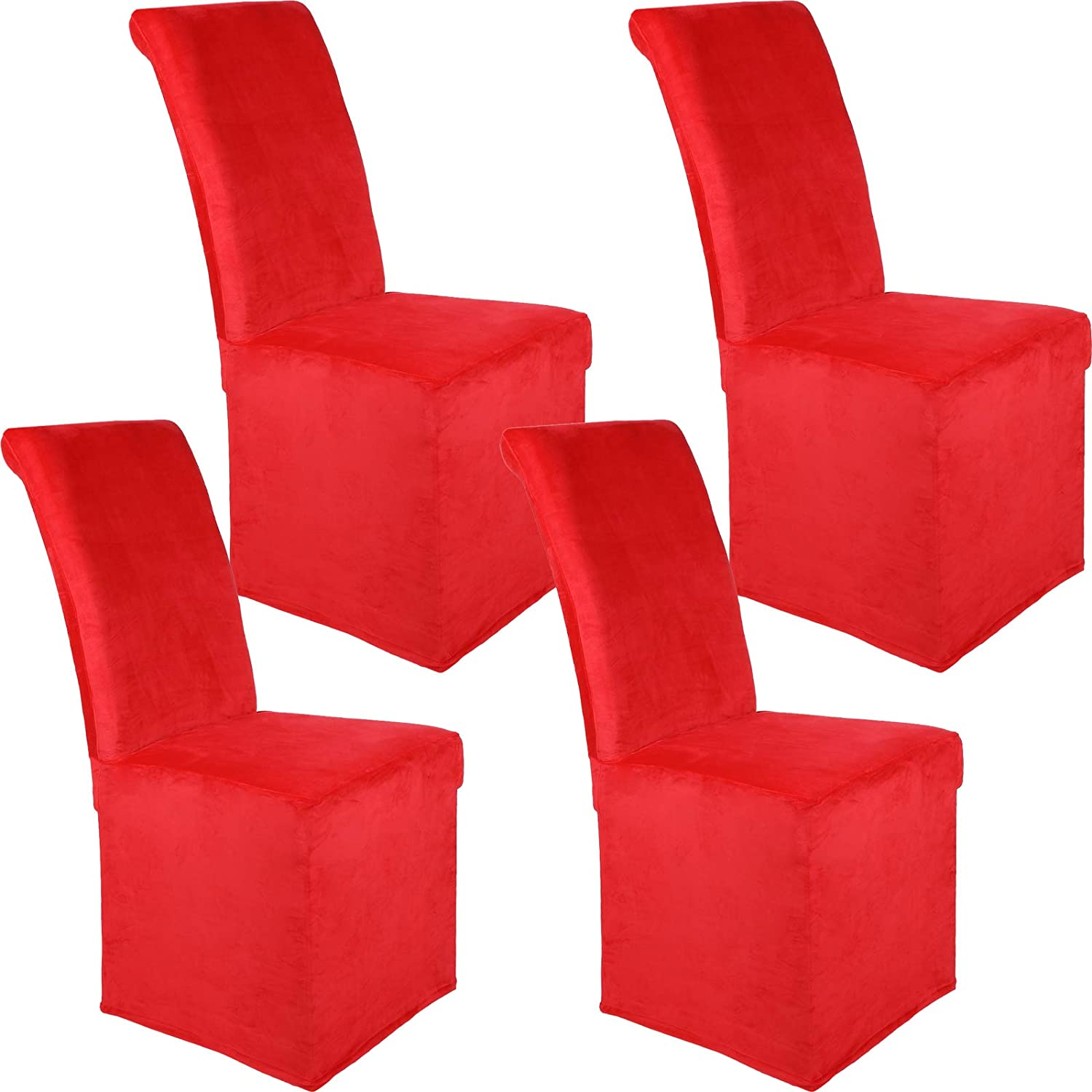 Colorxy Quality inspection Velvet Stretch Chair Covers Remova Dining Room Soft for Limited price