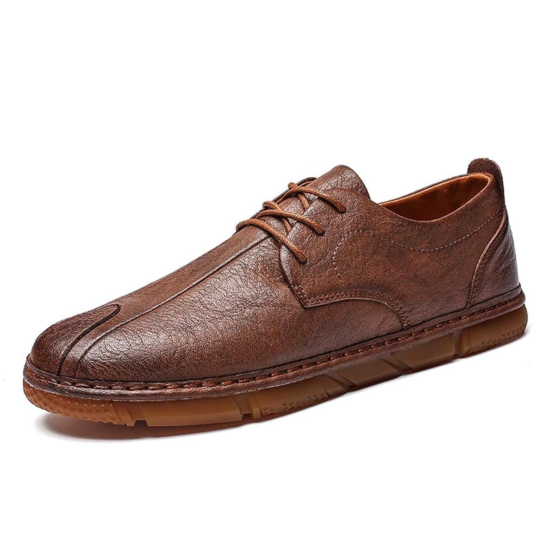 [CHENJUAN-HAT] ファッションシューズ スタンダードシューズ 靴メンズレジャーPUレザーカジュアルニューシンプルシンプルで快適なレトロトレンドノンスリップシューズ レジャーシューズ