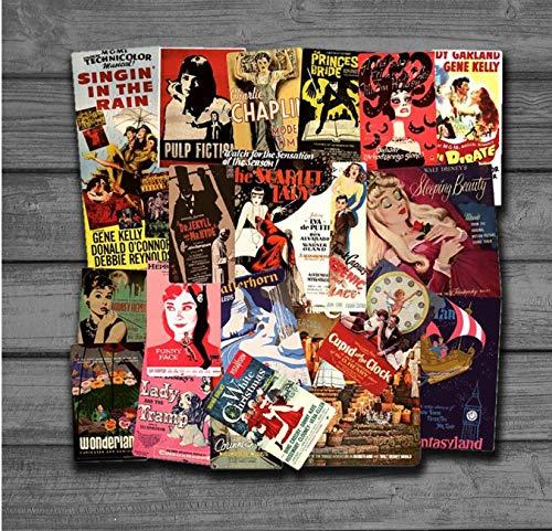 46 stück Klassische Retro Vintage Movie PosterTravel Aufkleber Für Gepäck Koffer Skateboard Motor Auto Styling wasserdichte Aufkleber