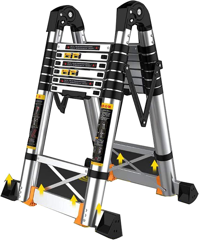 Multifunctional Aluminum Telescopic Max 65% OFF Classic Ladder with Pe 75mm Non-Slip