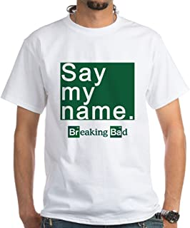 SAY My Name Breaking Bad White Cotton T-Shirt