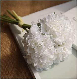 Artificial Flowers Peony Bouquet for Wedding Decoration 5 Heads Peonies Fake Flowers Home Decor Silk Hydrangeas Flower,3