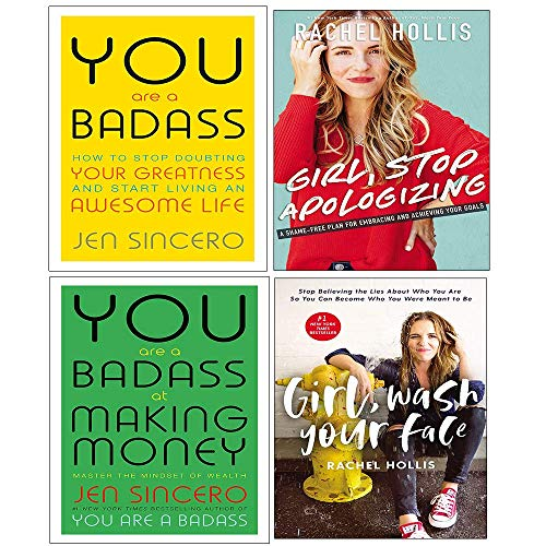 You Are A Badass At Making Money, Girl Stop Apologizing, Girl Wash Your Face 4 Books Collection Set