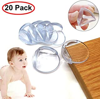 Table Corner Protectors for Baby Safety - 20 Pack Baby Safety Clear Furniture Corner Guards Corner Protector with 3M Adhesive (Clear)