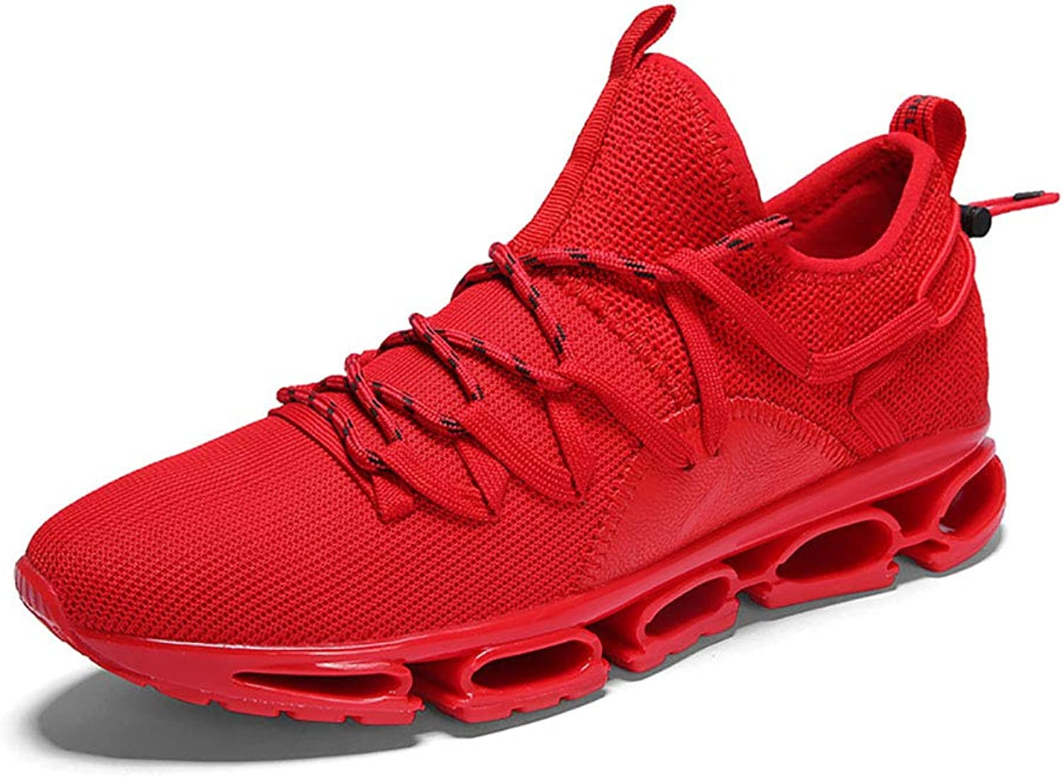 Sneakers Mens Casual Athletic shoes Lightweight Elastic Breathable Mesh Running Hiking Walking Jogging shoes,Red,40