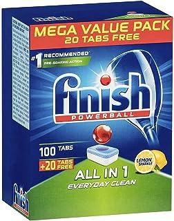 120PK Finish Powerball All-in-1 Tab Dishwashing Tablets for Dishwasher Lemon 103473
