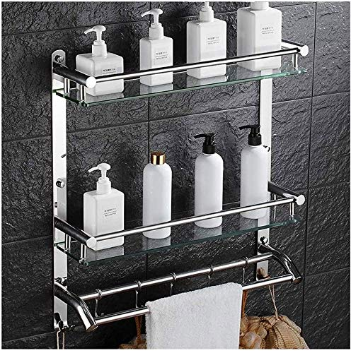 Lowest Price! Practical Bathroom and Kitchen Shelves with Rail, Stainless Steel Bathroom and Kitchen...