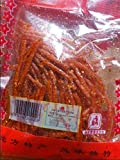 Domilove Chinese Special Spicy Snack Food: Gluten Wei Long La Tiao Xiang Gu Si Pack of 10 (香菇丝 32g X 10 Pack)