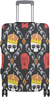 Luggage Cover Skull Crown And Boxing Gloves Travel Case Suitcase Bag Protector 3D Print Design
