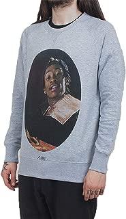 Eleven Paris Life is a Joke x Fix Saintyf Wiz Khalifa Gray Crewneck Pullover Sweatshirt (Small)