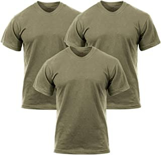 3-Pack Solid Color 100% Cotton Military T-Shirt, AR 670-1 Coyote Brown