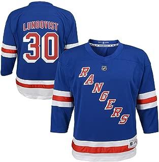 Outerstuff Henrik Lundqvist New York Rangers NHL Kids Blue Replica Player Jersey (Size 4-7)