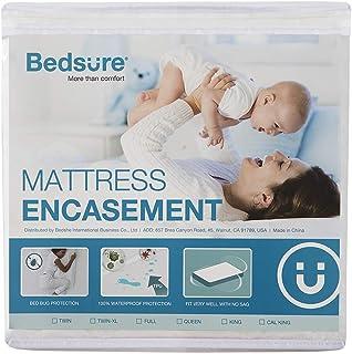 Bedsure Bed Bug Proof Waterproof Mattress Encasement Zippered Mattress Protector (Queen)