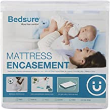 Bedsure Zippered Waterproof Mattress Encasement Twin XL/Twin Extra Long(6-9 inches Deep Pocket) - Fitted Mattress Cover, Mattress Protector - 6 Sided, Breathable, Washable