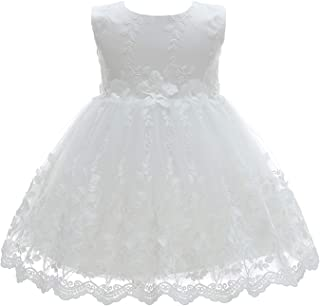 Baby Girl Christening Dress 2 Piece Floral Lace Christening Gown Baptism Dress Set