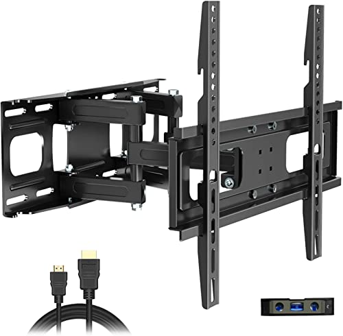 Full Motion TV Wall Mount with Height Setting, JUSTSTONE TV Bracket Fits Most 27-65 Inch LED Flat&Curved TVs,Articula...