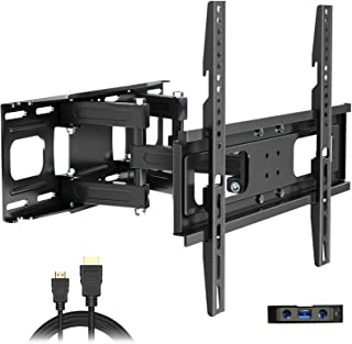 Full Motion TV Wall Mount with Height Setting, JUSTSTONE TV Bracket Fits Most 27-65 Inch LED Flat&Curved TVs,Articulating ...