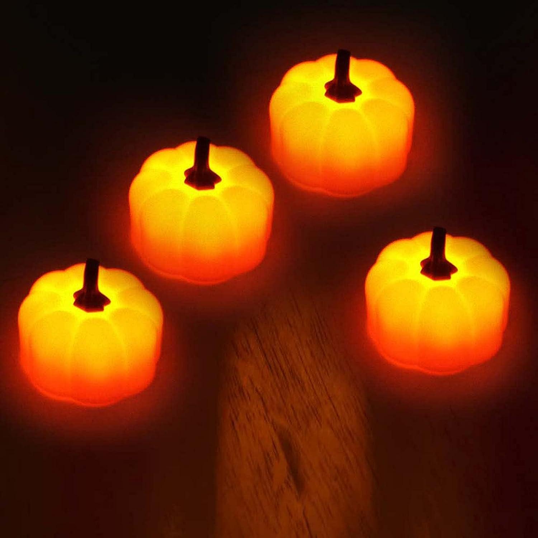 HCNB Flickering Pumpkin Tea Lights Brand Cheap Sale Venue Pack Ligh 4 Small Sale