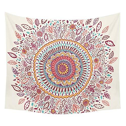 Goldbeing indischer Wandteppich Wandbehang Mandala Tuch Wandtuch Gobelin Tapestry Goa Indien Hippie-/ Boho Stil als Dekotuch/Tagesdecke indisch orientalisch Psychedelic (150 x 130cm, Style 3)