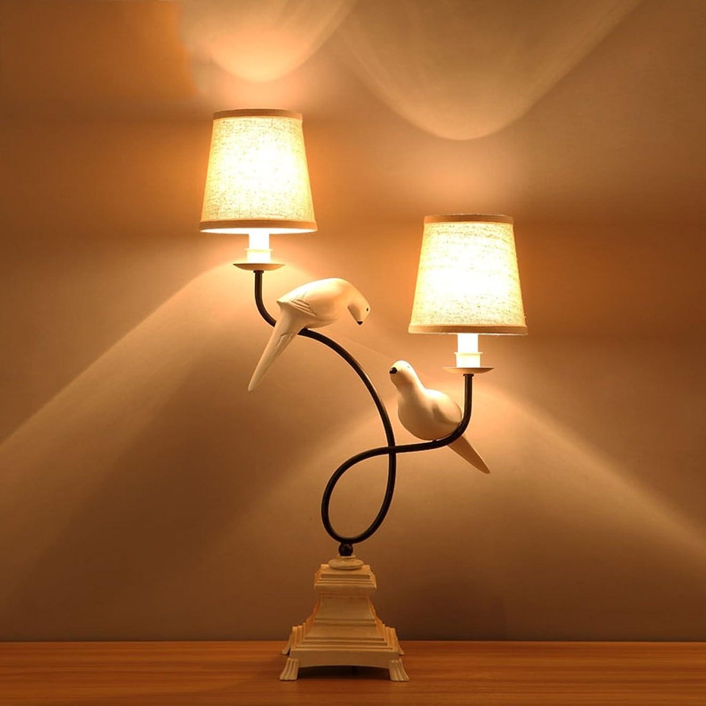 Nordic Nordic Nordic Kreative Harz Vogel Lampe Einfache Studie Schlafzimmer Doppelkopf Tuch Tischlampe B07CMTX31D     | Beliebte Empfehlung  6fecd6