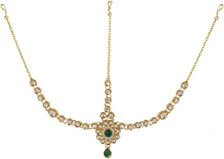 Archi Collection Maang Tikka with Head Chain Mathapatti Bridal Jewellery Hair Accessories
