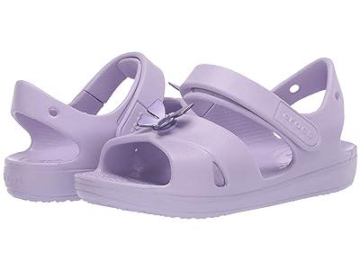 Crocs Kids Classic Cross Strap Sandal (Toddler/Little Kid) (Lavender) Girl