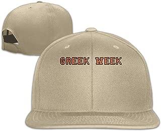 Men Greek Week Long Sleeves Cool Football White Caps Adjustable Snapback