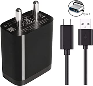 Fast Type C Charger for Xiaomi Poco F1 Armoured Edition Charger Original Adapter Like Mobile Charger   Power Adapter   Wall Charger   Fast Charger   Android Charger   Battery Charger Hi Speed Travel Charger With 1 Meter USB Type C USB Charging Data Cable (2.8 Amp, Black)