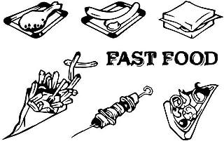 Familia Fast Food Pegatinas De Pared Impermeables Decoración Para El Hogar Calcomanías De Pared De Pvc Pegatina 57X90Cm