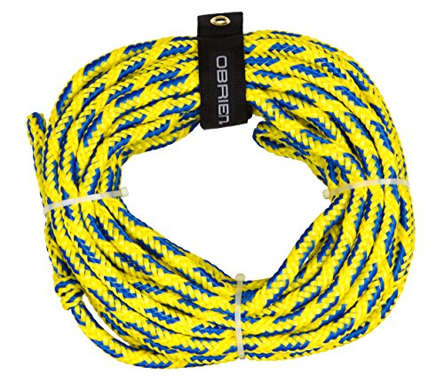 O Brien 2 Person Floating Towable Tube Rope, Yellow, 60 feet, Model: 2174566