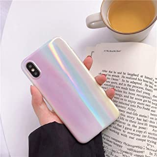 iPhone CASE-Colorful Gradient Color Soft Shell All-Inclusive Drop Protector Tide Brand only for iPhone (Size : IPhoneXR)