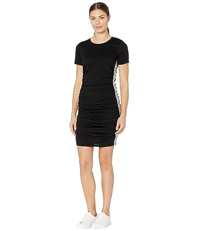 MICHAEL Michael Kors Shirred Logo Trim Dress Women
