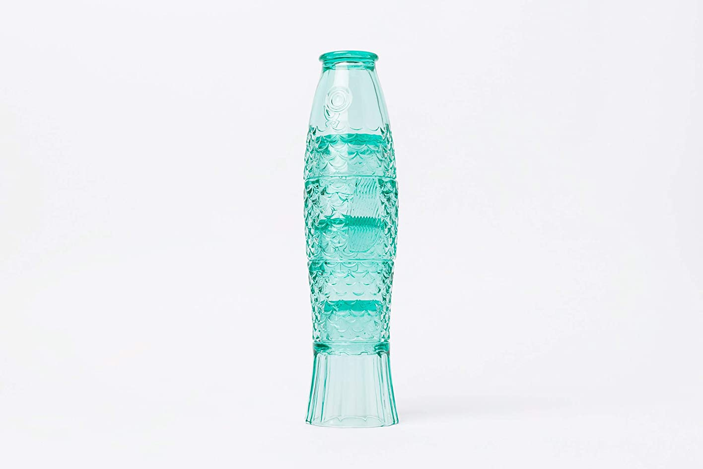 ゆりかご女優吸い込むDoiy Koi フィッシュスタッキンググラスセット - グリーンガラス製 4個セット 8オンス