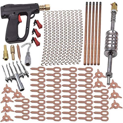 86Pcs Dent Puller Welder Kit Car Body Spot Repair Device Stud Welding Hammer Gun