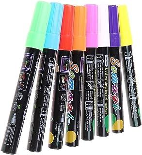 8 couleurs surligneur liquide fluorescent craie marqueur néon stylo pour LED panneau d'écriture tableau noir verre peintur...