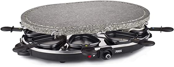 Princess Stone And Raclette Grill Set - Silver