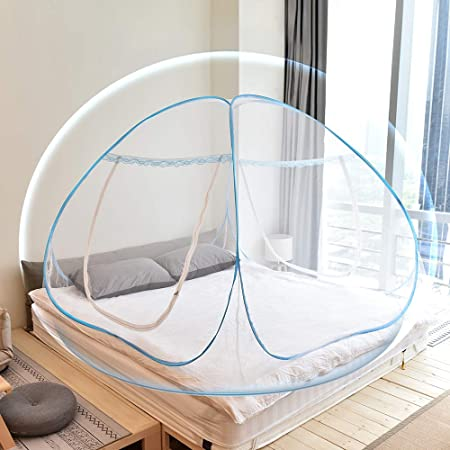 80 Mosquito Net Household Portable Mosquito Net Foldable Portable Mosquito Net for Bed Easy Installation Ideal for Childrens Bedroom and Student Dormitory,190 80cm-Blue