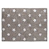 alfombra infantil estrellas beige