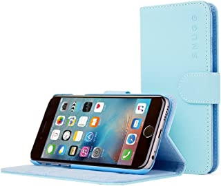 iPhone 6 and 6S Case, Snugg Baby Blue Leather Flip Case [Card Slots] Executive Apple iPhone 6 and 6S Wallet Case Cover and Stand - Legacy Series