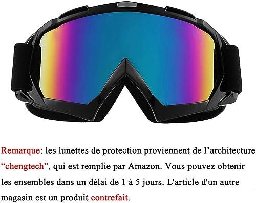 Sijueam Lunettes de Protection de Yeux Visage Masque pour sport de plein air Anti-UV coupe-vent Anti-sable Anti-pouss...