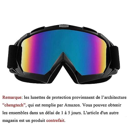 52757d56b9103b Sijueam Lunettes de Protection de Yeux Visage Masque pour Sport de Plein  air Anti-UV