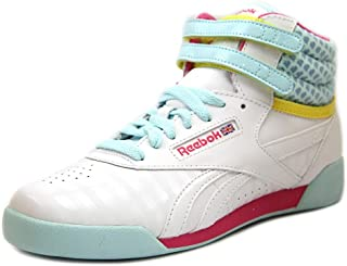 Reebok Freestyle Hi Youth US 4 White Sneakers