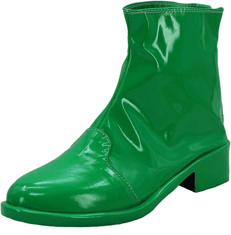 PinLian Mens JoJo's Adventure Kakyoin Noriaki Cosplay Booties Short Green Boots shoes Costume (UK 6.5)