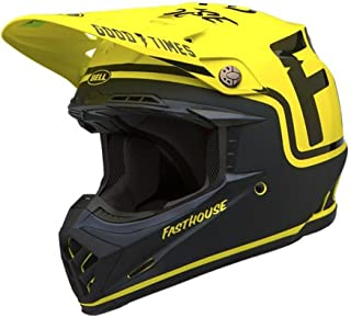 Bell Moto-9 Off-Road Motorcycle Helmet (Fasthouse Black/Flo Yellow, Large)