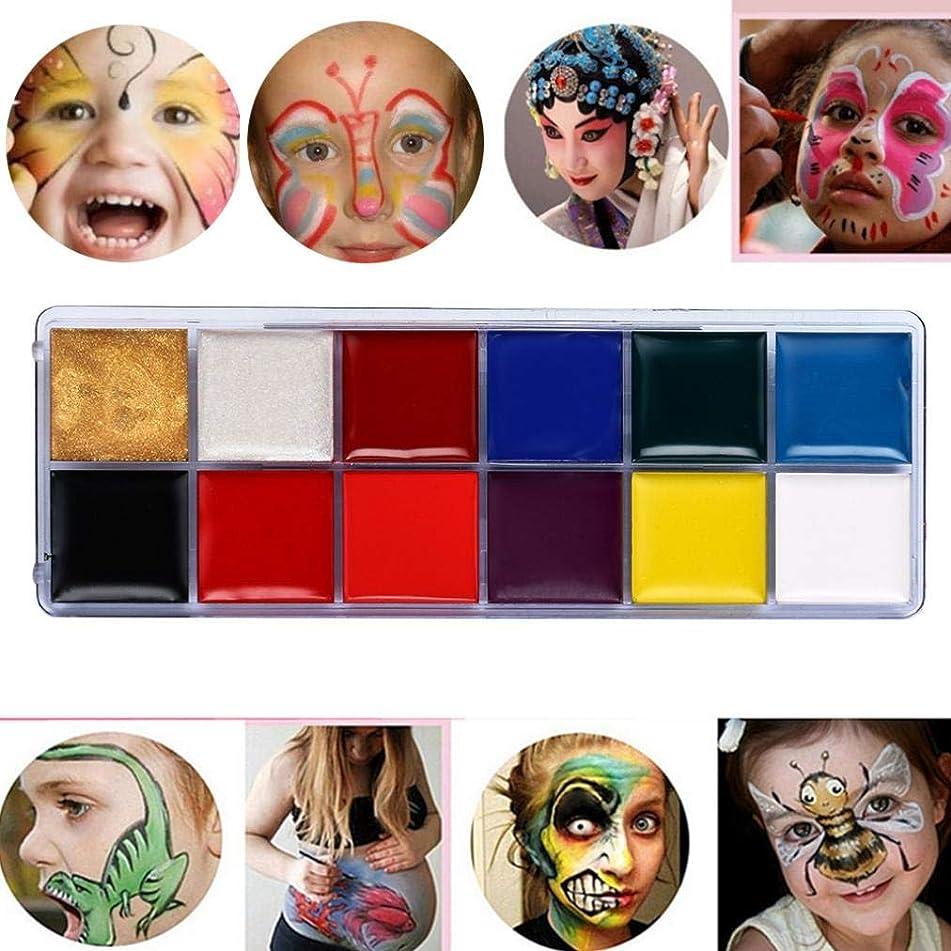 DMZ 12 Color Body Painted Oil Color Drama Clown Halloween Face Makeup