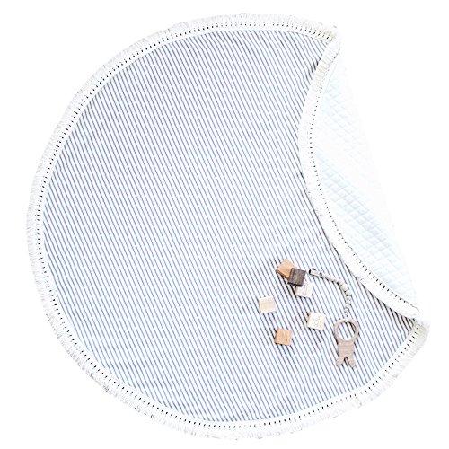 Big Bébé Crawl pad Game de couchage Pad Tapis,100% pur Coton 105 * 105cm Noël Cadeau